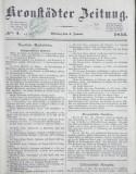 KRONSTADER ZEITUNG 1852