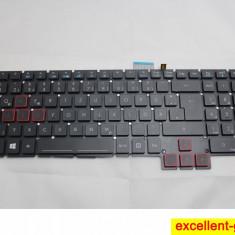 Tastatura Laptop Acer Predator G9-592G iluminata layout DE (UK)