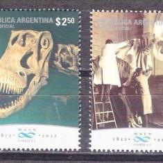Argentina, fauna, fosile, fluturi, dinozauri, 2012,  MNH