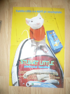 Afis Film - Stuart Little -1999 Animatie pe calculator , dim.= 46x68cm