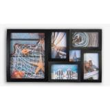 Rama foto multipla de perete, capacitate 6 poze, design elegant, negru, ProCart