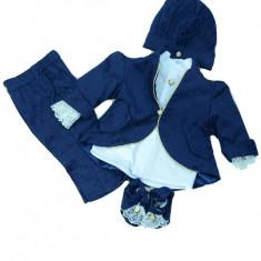 Costum elegant botez baieti Micul Vip CBMV3-B, Bleumarin