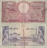 1957, 50 rupiah (P-50) - Indonezia