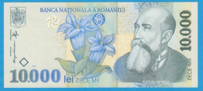 (3) BANCNOTA ROMANIA - 10.000 LEI 1999, STARE FOARTE BUNA, AUNC/UNC