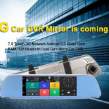 "Oglinda Auto Multifunctionala 7""HD GPS DVR DUAL WiFi TMC Online 1GbRAM 16GbFLASH, Toata Europa, Lifetime, LodeStar"