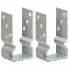 vidaXL Ancore de gard, 2 buc., argintiu, 7x6x15 cm, oțel galvanizat