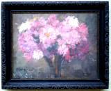 Cumpara ieftin T.001 TABLOU ULEI CRIZANTEME SEMNAT MAIER, Flori, Impresionism