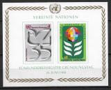 Națiunile Unite - 1980 - Aniversarea de 35 de ani - coliță nedantelată MNH (T67), Nestampilat