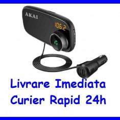 Modulator MODEL 2020 FM Akai Bluetooth USB SD suport magnetic pentru telefon