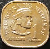Moneda 1 SENTIMO - FILIPINE, anul 1975 *cod 505, Asia, Aluminiu