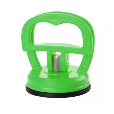 Ventuza puternica pentru ridicat display - ecran telefon, culoare verde foto