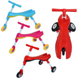 Tricicleta pliabila pentru copii, fara pedale, cadru metalic, roti silicon