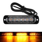 Stroboscoape 6 LED, lumini de avertizare galbene pentru platforma