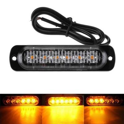 Stroboscoape 6 LED, lumini de avertizare galbene pentru platforma foto