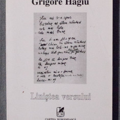 Grigore Hagiu - Liniștea versului (dedicație/ autograf Gina Hagiu, sora poetului