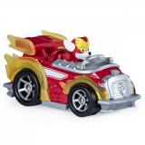 Macheta metalica Paw Patrol - Marshall super erou si masina de pompieri True Metal