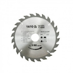 Disc vidia pentru lemn 184 mm, Yato YT-6060, 24 dinti