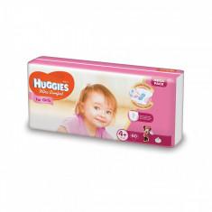 Scutece Huggies Mega Comfort Girls, Nr 4+, 10 - 16 Kg, 60 buc