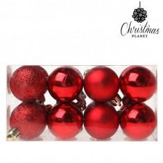 Globuri de Craciun Christmas Planet 5313 4 cm (16 uds) Plastic Rosu