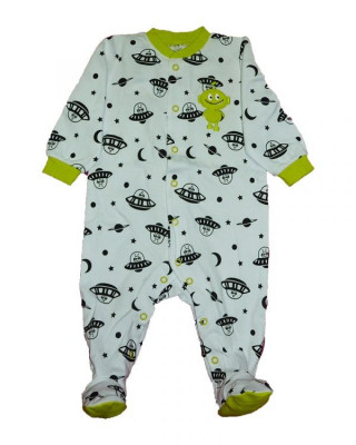 Salopeta / Pijama bebe imprimeu martieni Z86 foto