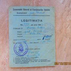 Cartela Ocupatia Sovietica.Filigran rar,Bistrita 1947.