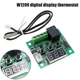 termostat digital universal 12v 50-100 grade w1209 cu sonda  si releu de 20A