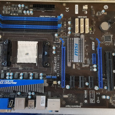 Placa de baza MSI A75A-G55, socket FM1, DDR3, PCI-E - poze reale, Pentru AMD, DDR 3