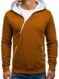 Bluză cu glugă pentru bărbat maro Bolf PAUL