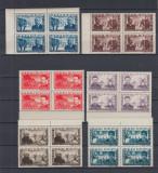 ROMANIA 1945  LP 168   APARAREA  PATRIOTICA  BLOCURI DE 4 TIMBRE  MNH, Nestampilat