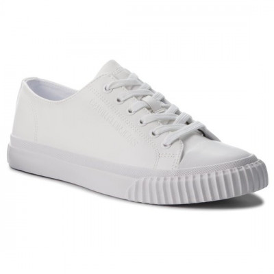 Sneakers barbati Calvin Klein Iaco Nappa Smooth ,alb foto