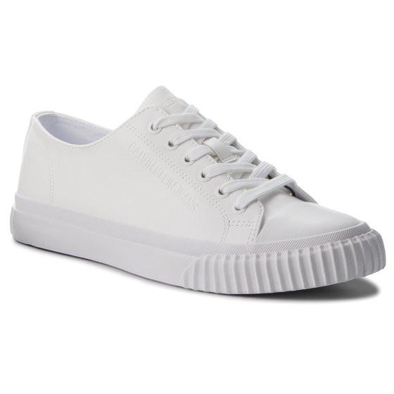 Sneakers barbati Calvin Klein Iaco Nappa Smooth ,alb