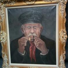 Ulei pe panza  portret o lucrare foarte veche, Portrete, Realism