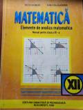 ELEMENTE DE ANALIZA MATEMATICA, CLASA A 12 A - NICU BOBOC, ION COLOJOARA
