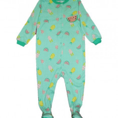 Salopeta / Pijama bebe cu pepene Z29, 1-2 ani, 12-18 luni, Verde
