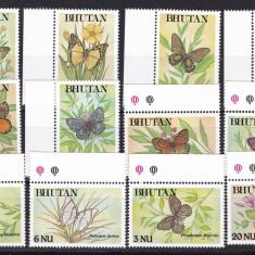Bhutan  1990  fauna  fluturi   MI 1242-1253   MNH  w59