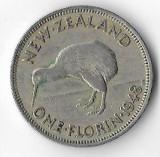 Moneda 1 florin 1948 - Noua Zeelanda