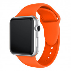 Curea compatibila Apple Watch 1/2/3/4, silicon, 42/44mm, portocaliu
