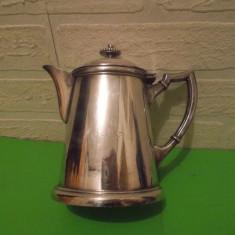 Masiva  CAFETIERA din ALPACA  ARGINTATA  cu monograma AS , marcaj ESKILSTUNA