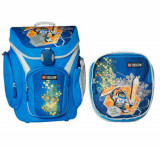 Cumpara ieftin Ghiozdan scoala Explorer + sac sport, LEGO Core Line - design bleu Nexo Knights