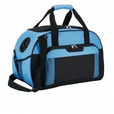 Geanta sport sau de voiaj, Everestus, SE, poliester, albastru, saculet de calatorie si eticheta bagaj incluse