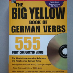 The big yellow book of German verbs 555 + CD (in limba engleza)