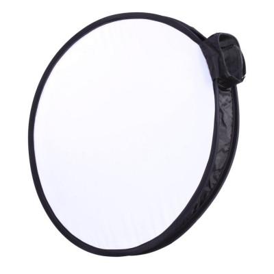 Mini softbox circular 30cm pentru blitz speedlite foto