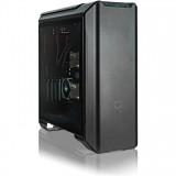 Carcasa Middle-Tower E-ATX, MasterCase SL600M, w/ controller, tempered glass, black edition, Cooler Master