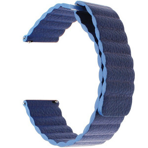 Curea piele Smartwatch Samsung Gear S3, iUni 22 mm Blue Leather Loop