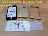 Husa IPhone 6/6S 360 grade Plastic plus Folie