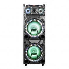 Boxa portabila karaoke Zephyr 2G12, 2 x 12 inch, bluetooth, USB, mufa chitara, 2 microfoane