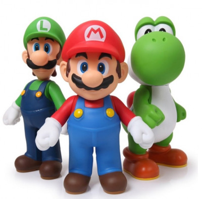 Set figurine Mario Luigi Yoshi Super Bros foto