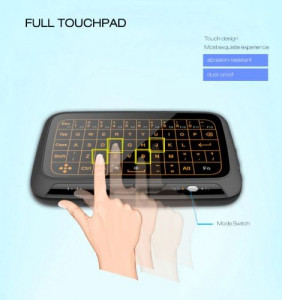 Tastatura Telecomanda SMART touch pad Led fara fir nano USB Li-Ion TV/PC/consola