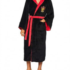 Halat De Baie Gryffindor Harry Potter Fleece Bathrobe Black Burgundy