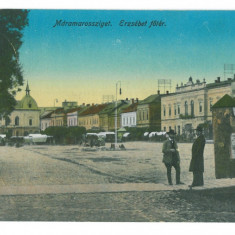 4641 - SIGHET, Maramures, Market, Romania - old postcard, CENSOR - used - 1916, Circulata, Printata
